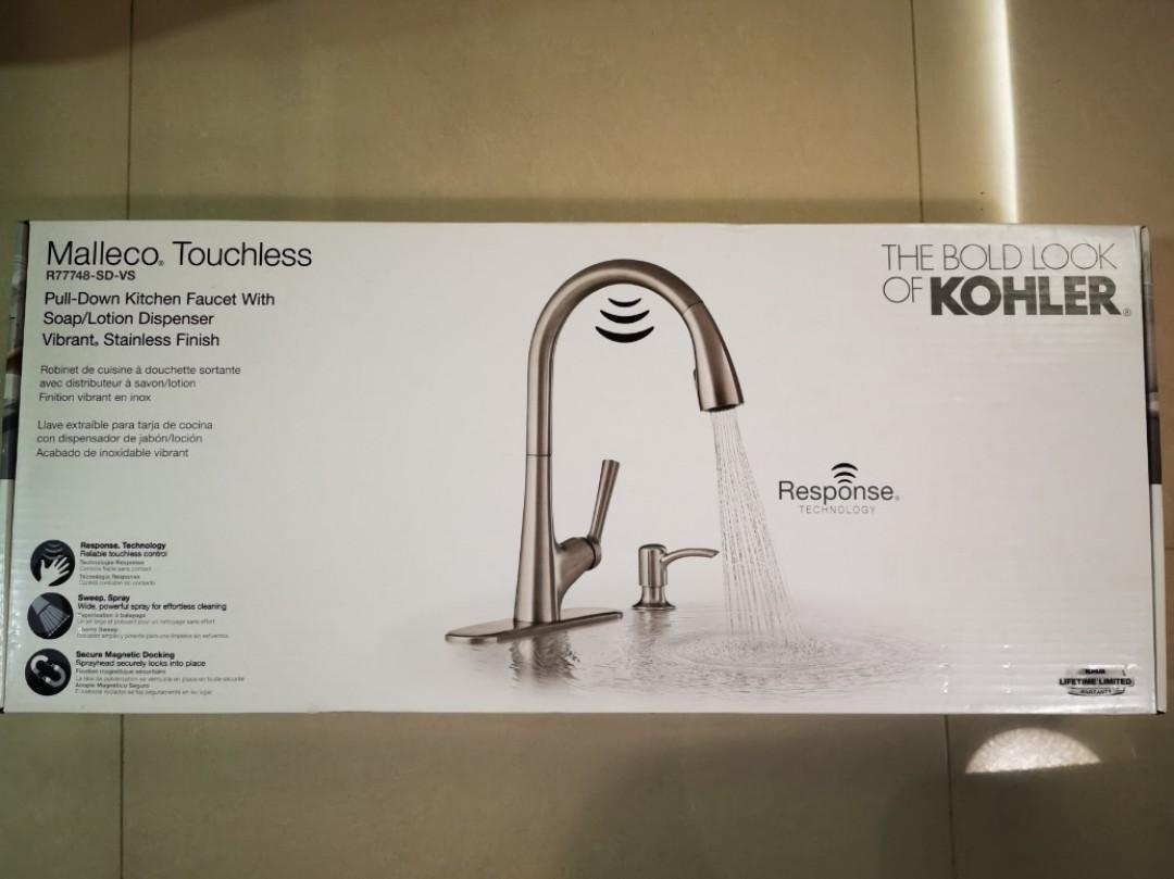 kohler malleco touchless kitchen faucet