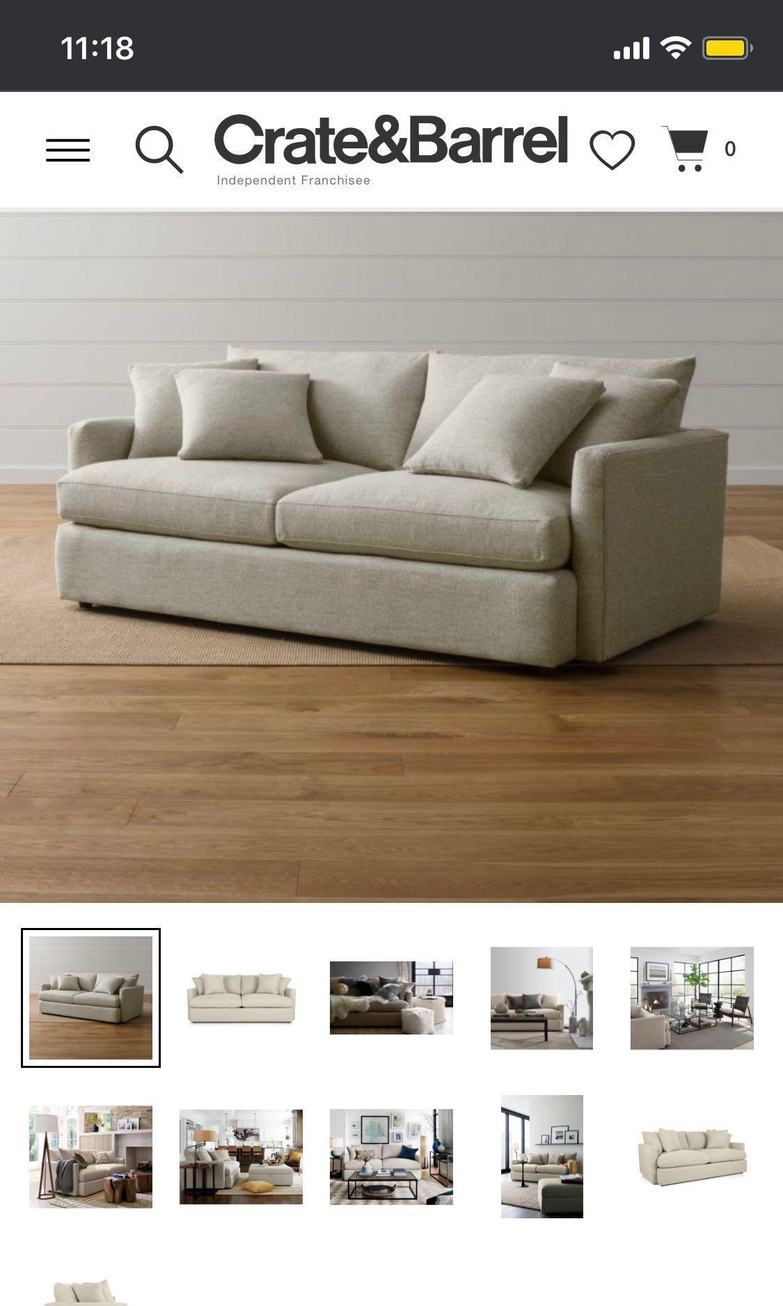 crate barrel lounge ii sofa 93