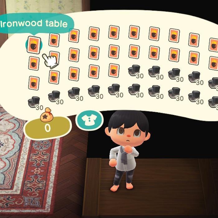 Animal Crossing Ironwood & Iron DIY Recipe Full Set ... on Ironwood Animal Crossing  id=66120