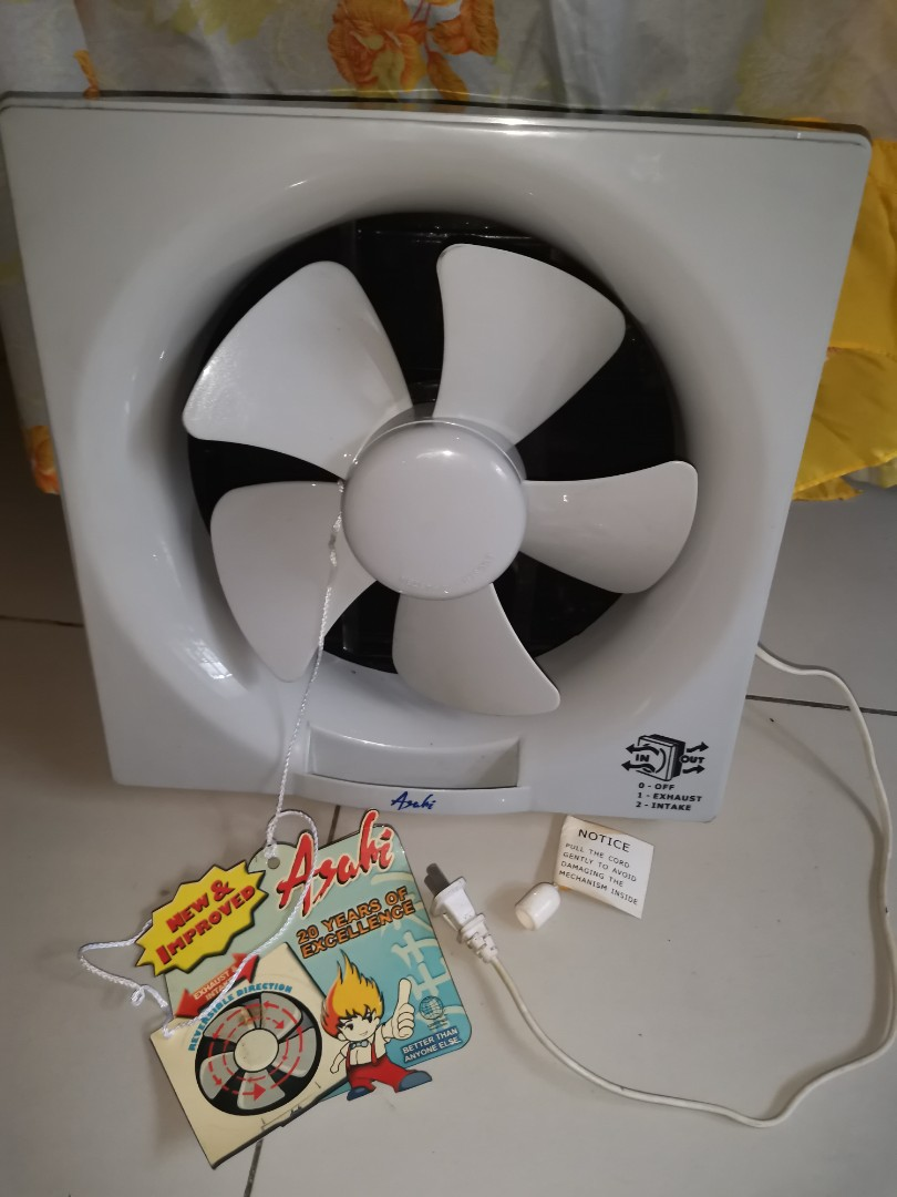 for sale brandnew asahi exhaust fan size 12 ready to use price 1 5k fixed ship via lalamove grab j t pm or txt 09397142061 meetup pickup