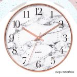Rose Gold White Marble 12 Wall Clock With Aesthetic Flaw Furniture Home Decor Others On Carousell