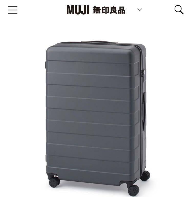 Muji 無印良品 行李箱 (105L) 藍色,1096