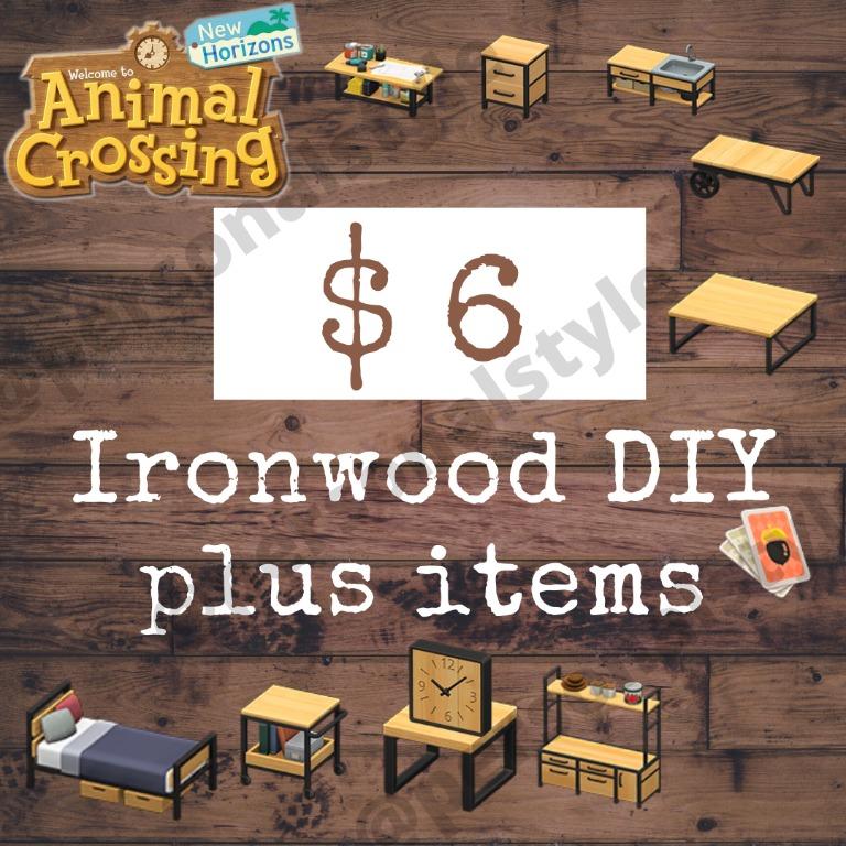 Ironwood Set DIY, Furniture, Animal Crossing New Horizons ... on Animal Crossing Ironwood Dresser  id=48824