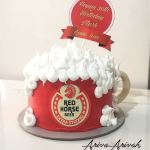 Beer Cake Red Horse Theme Cake Food Drinks Homemade Delights On Carousell