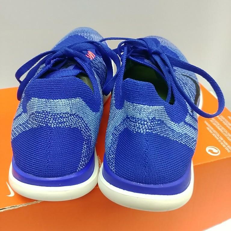 Nike Free 4.0 Flyknit blue size 38.5,Converse, 女裝鞋 - Carousell