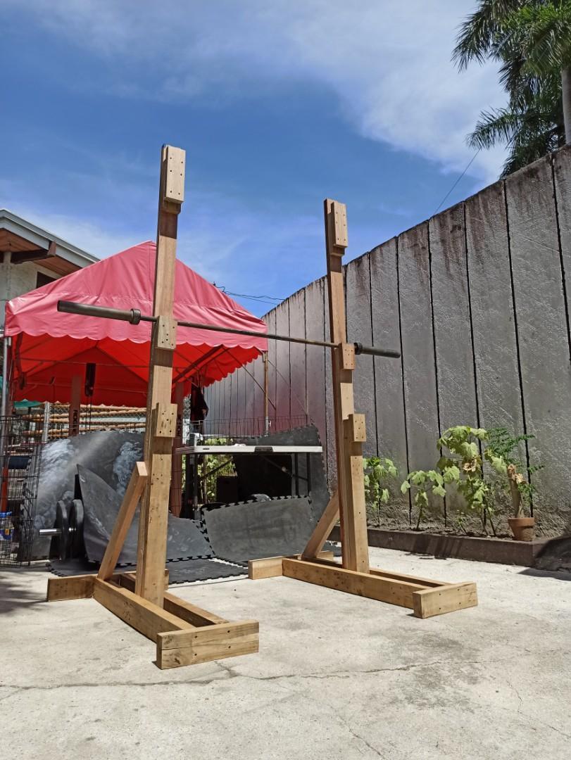 wooden squat rack health nutrition