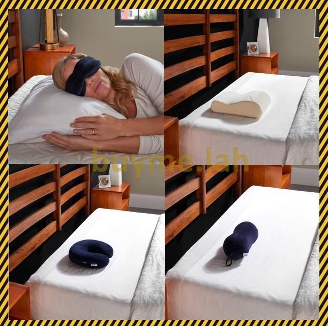 tempur pedic the sleep mask travel size neck pillow white navy all purpose pillow
