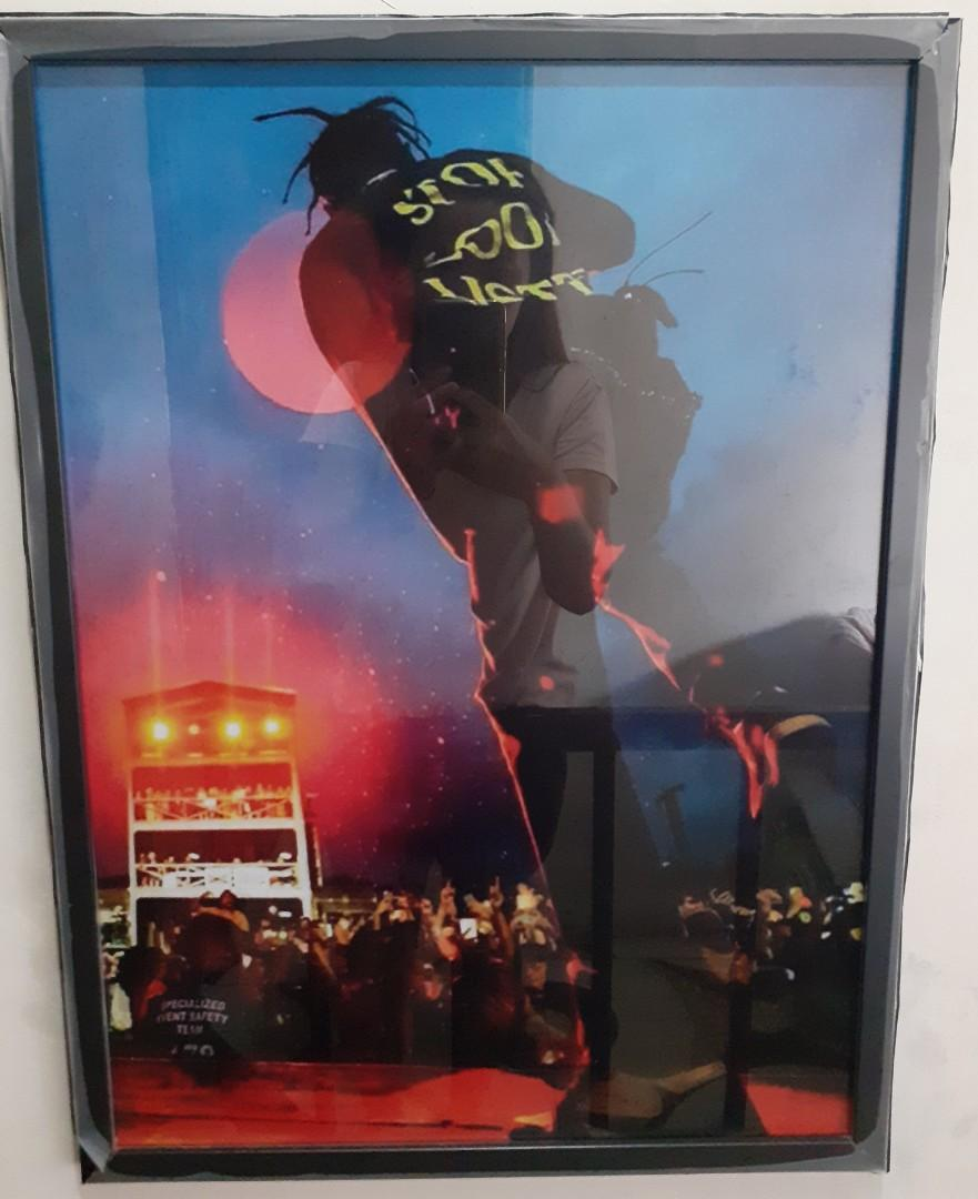travis scott poster in frame customized available any size and image