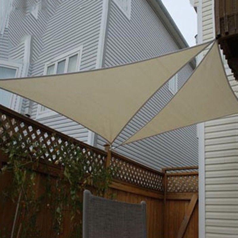 patio sun shade sail triangle canvas sailcloth awning uv deck sail shade canopy backyard garden pool playground pergola carport shade tarp