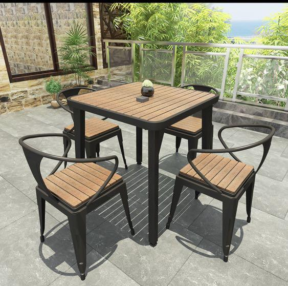 p o 2 4 6 seater outdoor patio table chair set