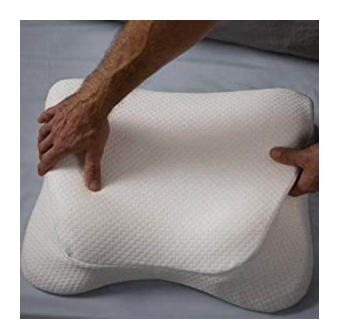 copper fit angel ultimate memory foam pillow for side and back sleepers