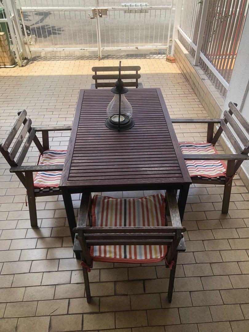 ikea outdoor garden patio table with 4 chairs