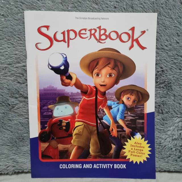 Superbook coloring and activity book, Hobbies & Toys, Books