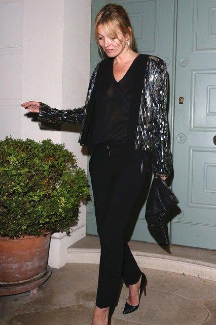Gör som Kate Moss och välj en paljettjacka i jul!