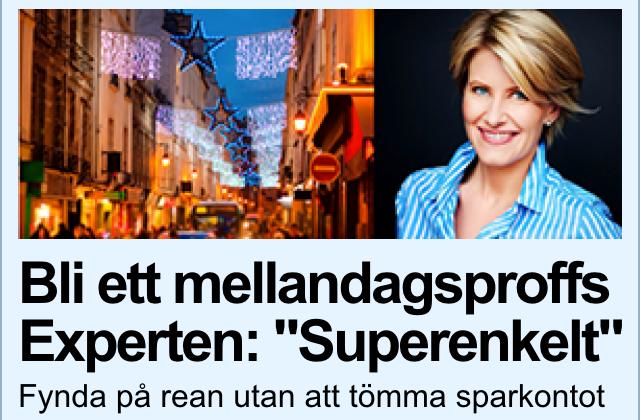 """""""Så blir du ett rea-proffs"""". Bilden är en skärmdump från Aftonbladet."""