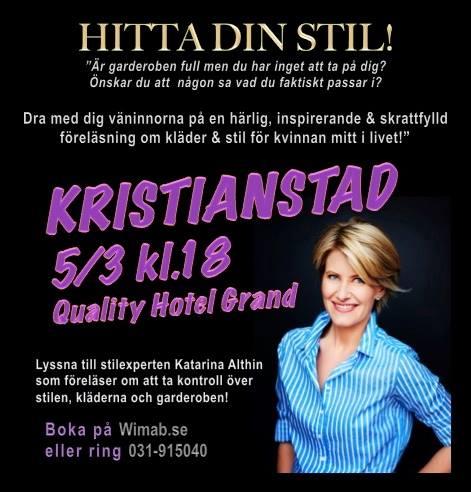 Dra med dig tjejgänget och kom på en föreläsning om kläder och stil i Kristianstad den 5 mars!