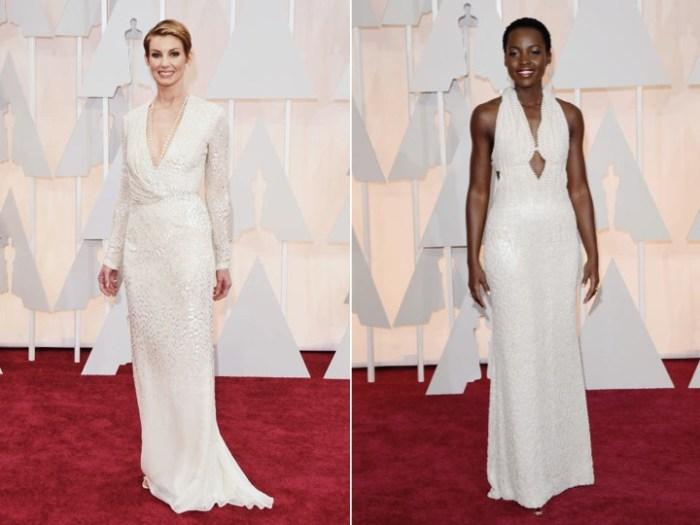Vita klänningar på Oscarsgalans röda matta.