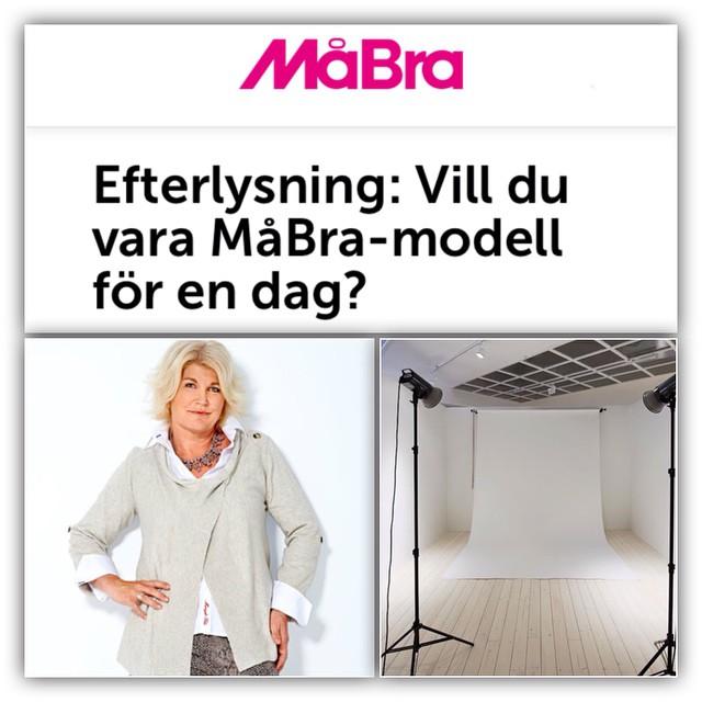 """Vill du bli tidningen MåBra:s nästa läsarmodell? Nu söker vi dig som vill vara med i ett """"gör om mig""""-reportage!"""