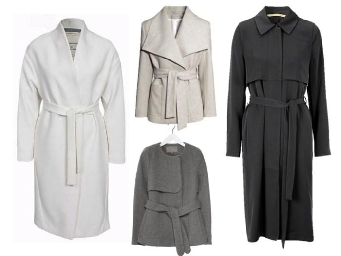 """Dagens utvalda vårjackor och vårkappor är """"bältade favoriter"""" av både långa och korta jackor och kappor."""