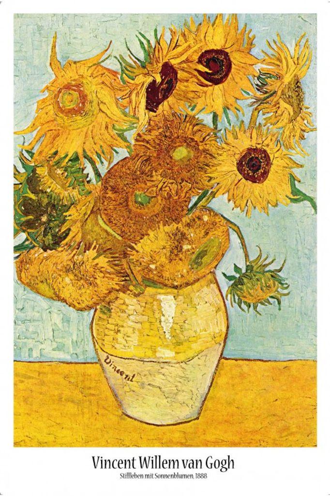 vincent van gogh poster stillleben mit sonnenblumen 1888 91 x 61 cm