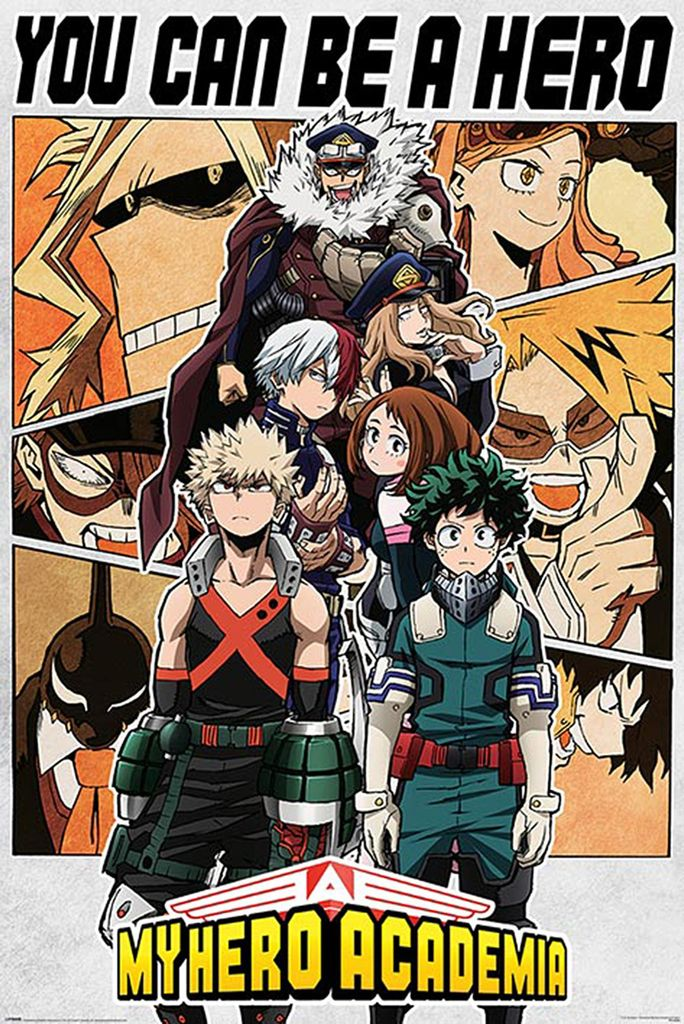 my hero academia poster you can be a hero 91 5 x 61 cm