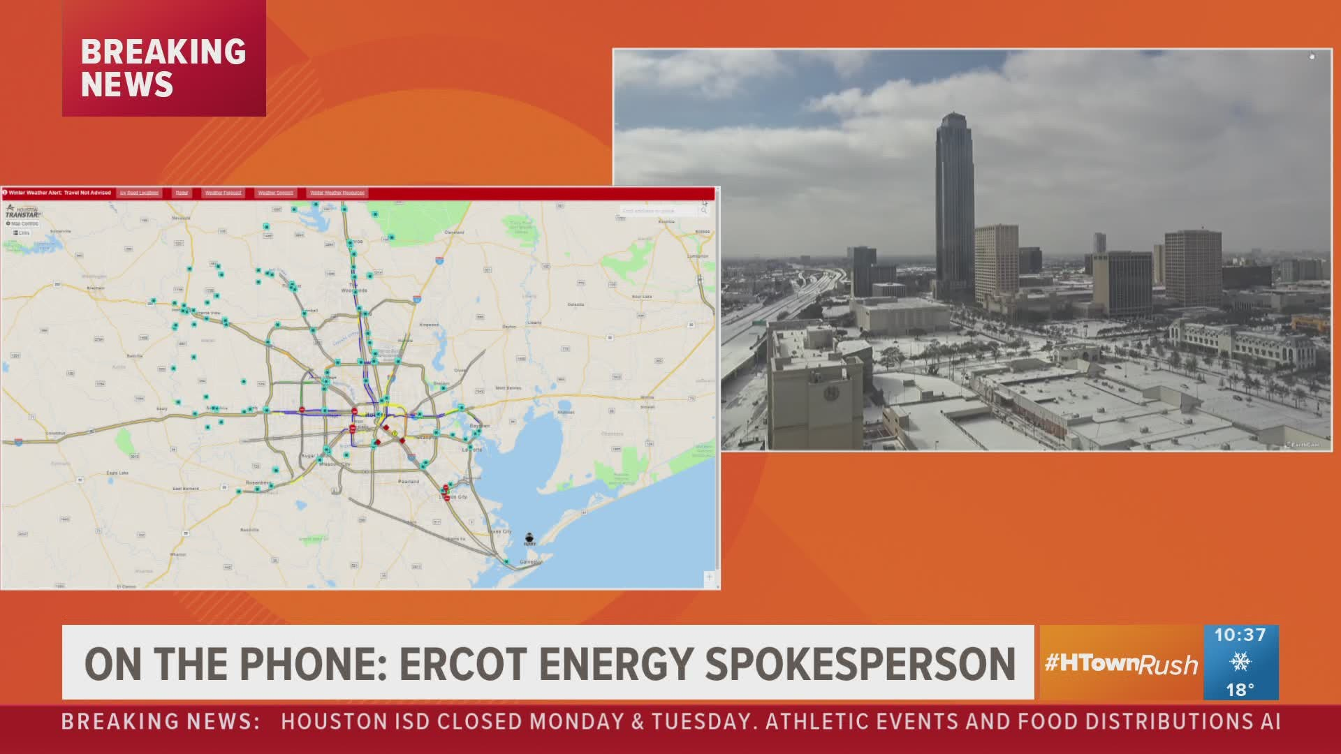 ercot gives update on power across texas from winter storm