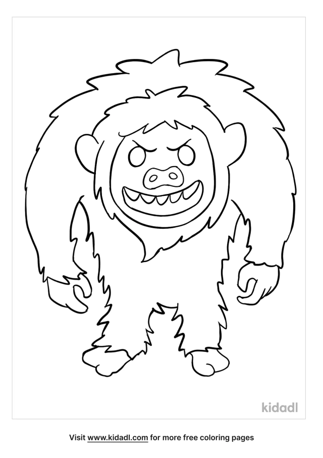 Abominable Snowman Coloring Pages  Free Fairytales & Stories