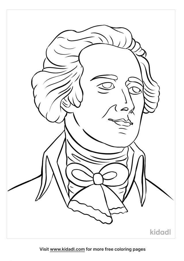 Alexander Hamilton Coloring Pages  Free People Coloring Pages