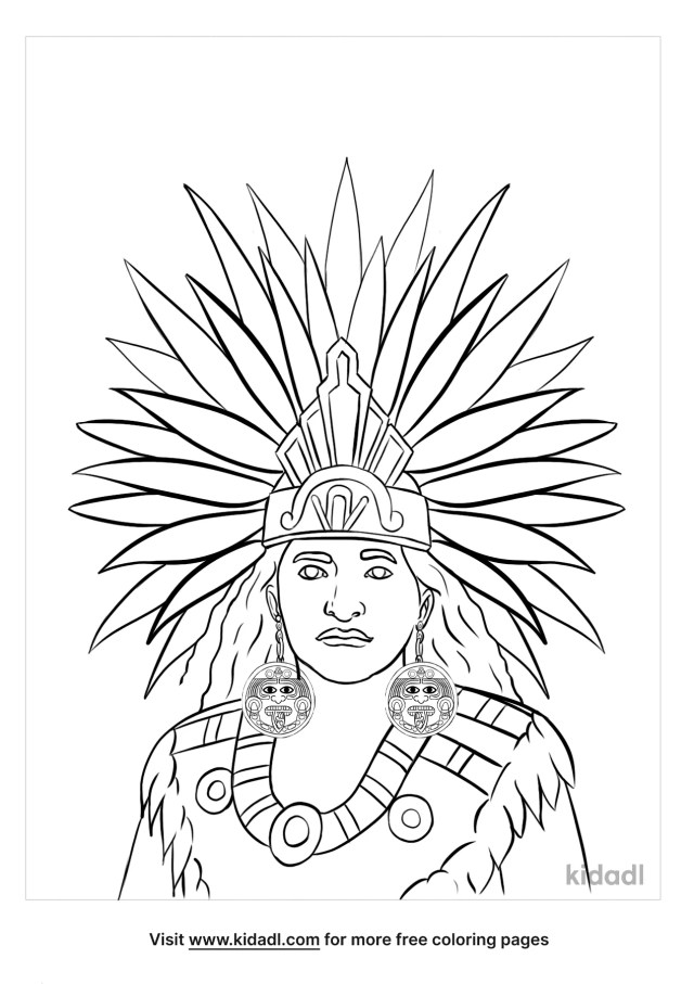 Aztec Coloring Pages  Free History Coloring Pages  Kidadl