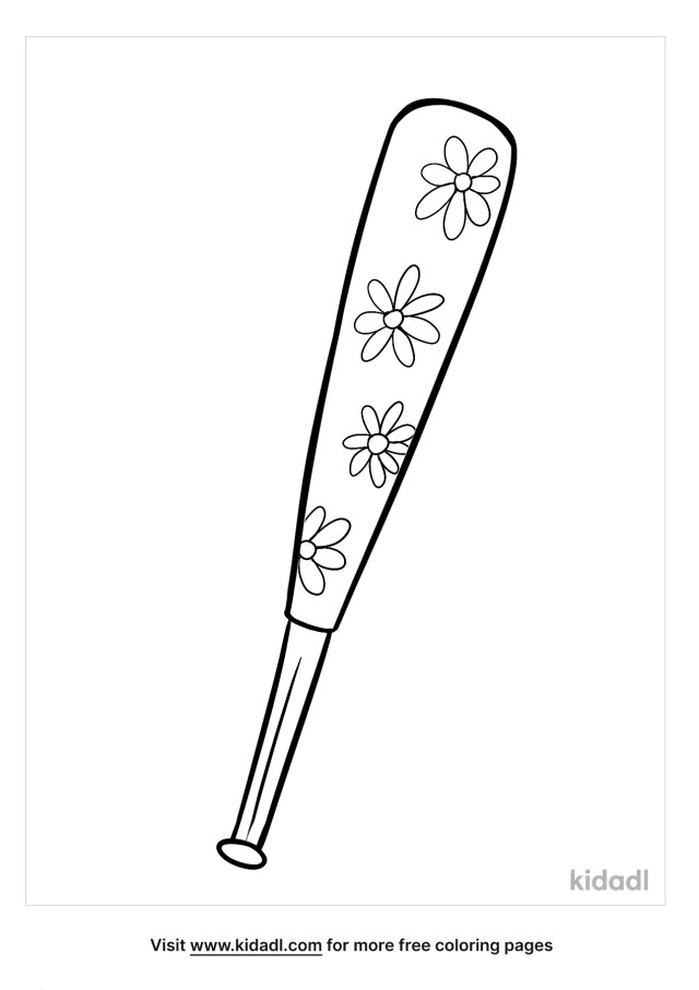 Baseball Bat Coloring Pages  Free Sports Coloring Pages  Kidadl