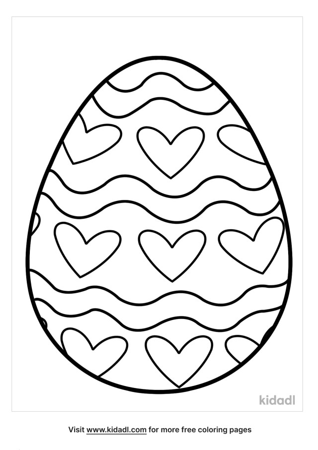 Blank Easter Egg Coloring Pages  Free Easter Coloring Pages  Kidadl