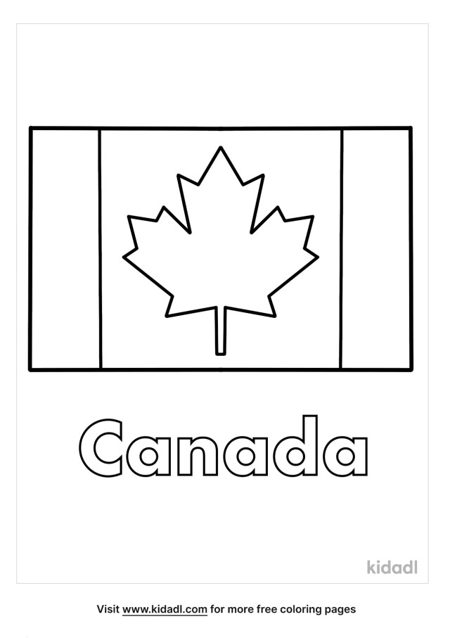 Canada Flag Coloring Pages  Free World, Geography & Flags