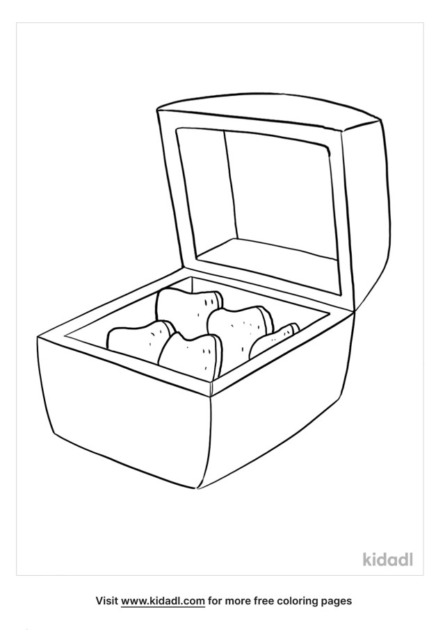 Chicken Nugget Coloring Pages  Free Food Coloring Pages  Kidadl