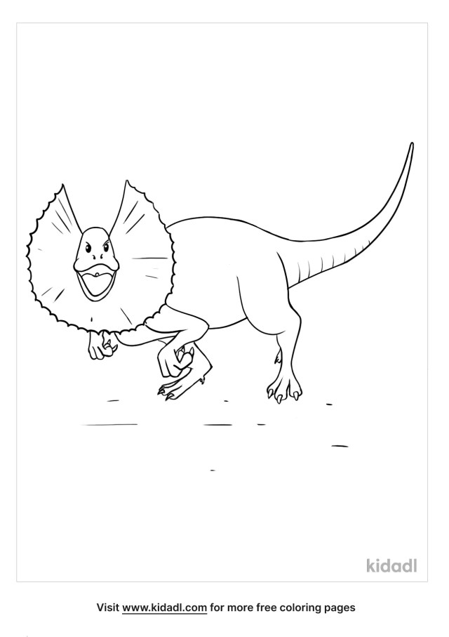 Dilophosaurus Coloring Pages  Free Dinosaurs Coloring Pages  Kidadl