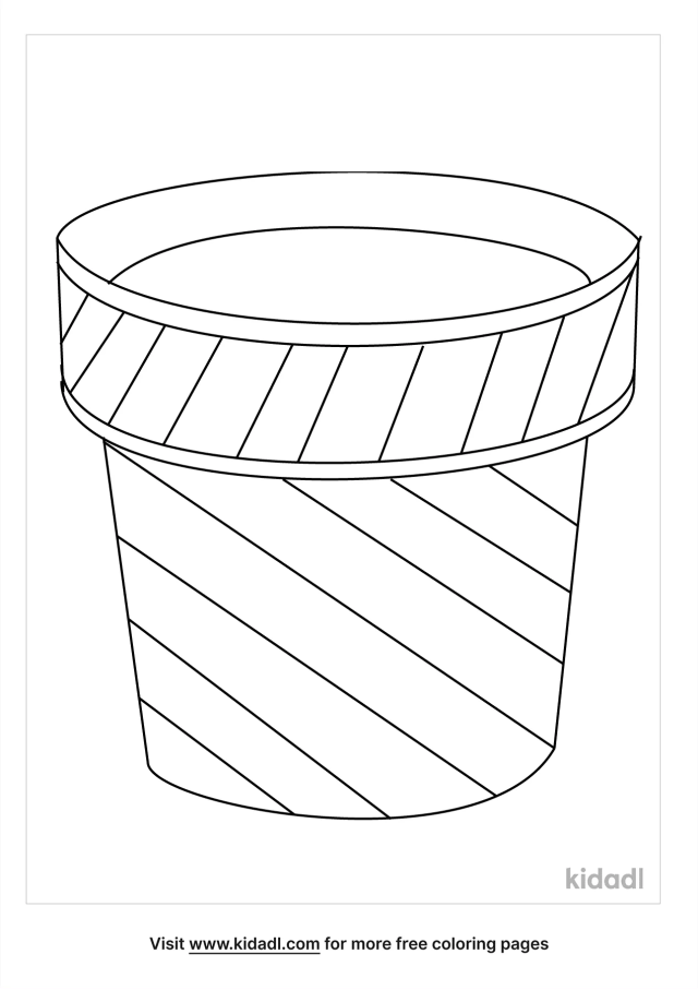 Flower Pot Coloring Pages  Free Flowers Coloring Pages  Kidadl