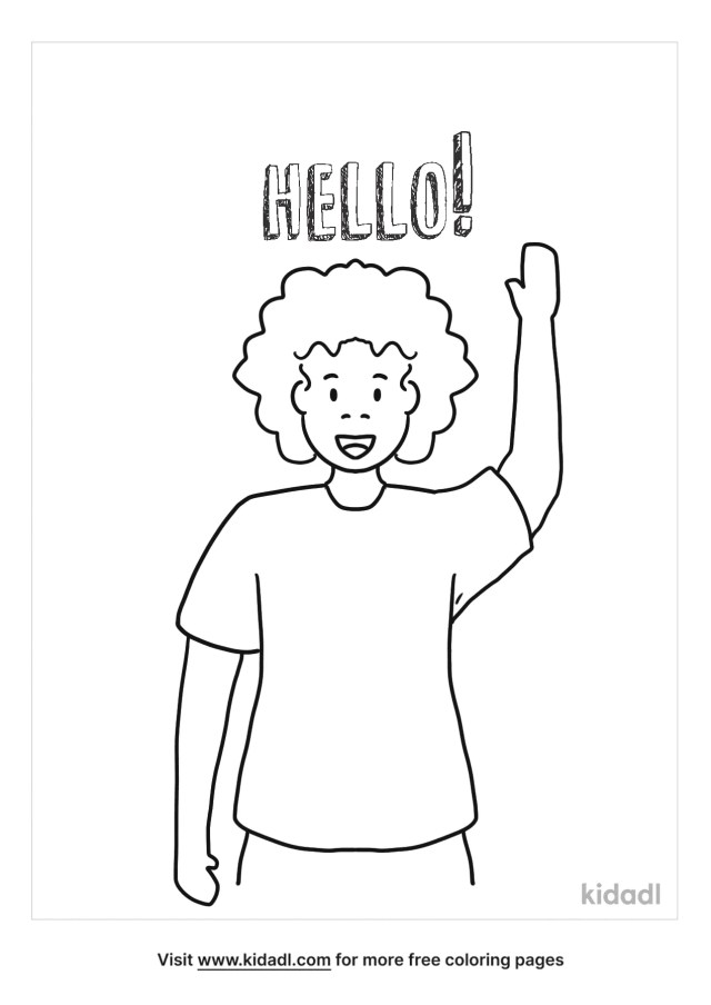 Hello Coloring Pages  Free Words & Quotes Coloring Pages  Kidadl