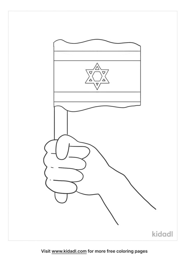 Israel Flag Coloring Pages  Free World, Geography & Flags
