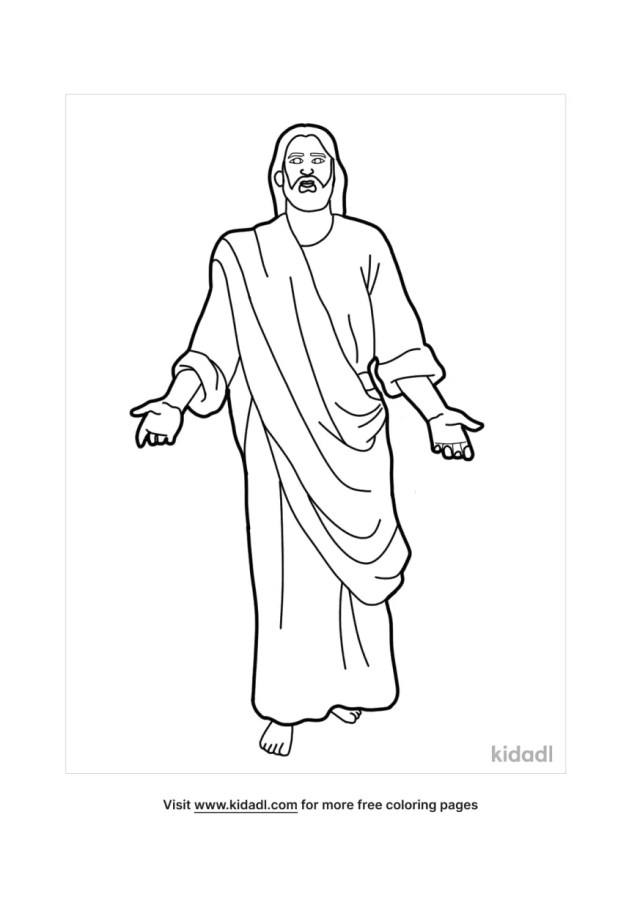 Jesus Coloring Pages  Free Bible Coloring Pages  Kidadl