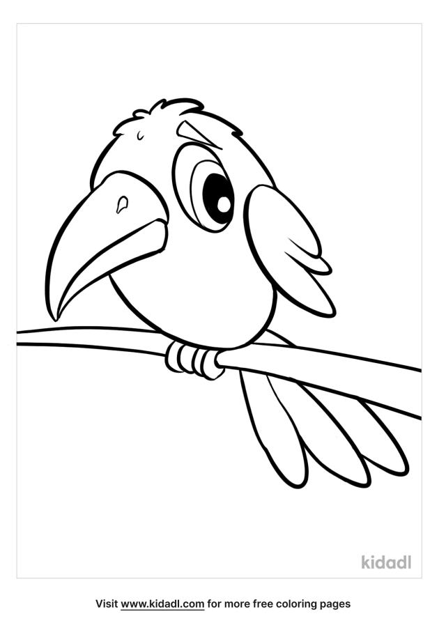 Ravens Coloring Pages  Free Birds Coloring Pages  Kidadl