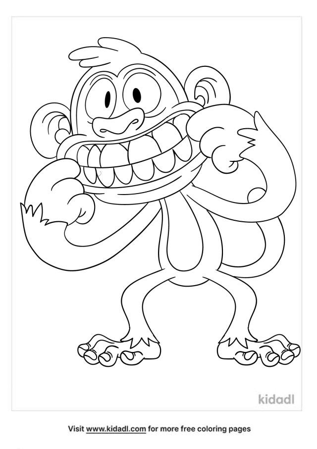 Silly Face Coloring Pages  Free People Coloring Pages  Kidadl