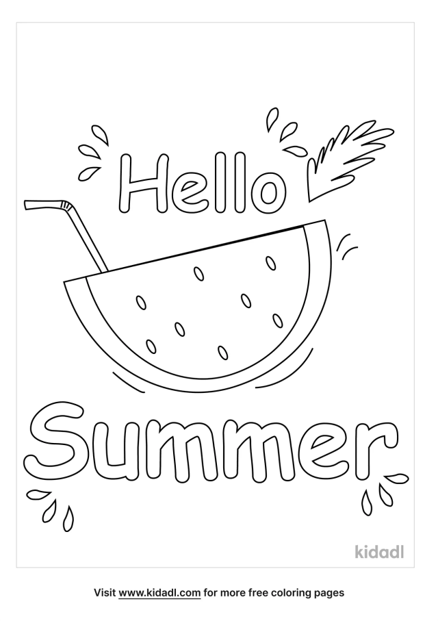 Summertime Coloring Pages  Free Summer Coloring Pages  Kidadl