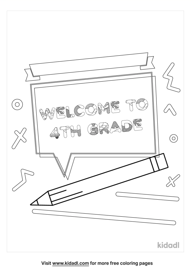 Welcome To 20th Grade Coloring Pages  Free Words & Quotes Coloring