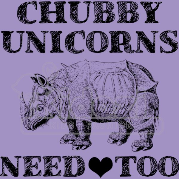 Download Chubby Unicorns Need Love Too Youth T-shirt | Kidozi.com
