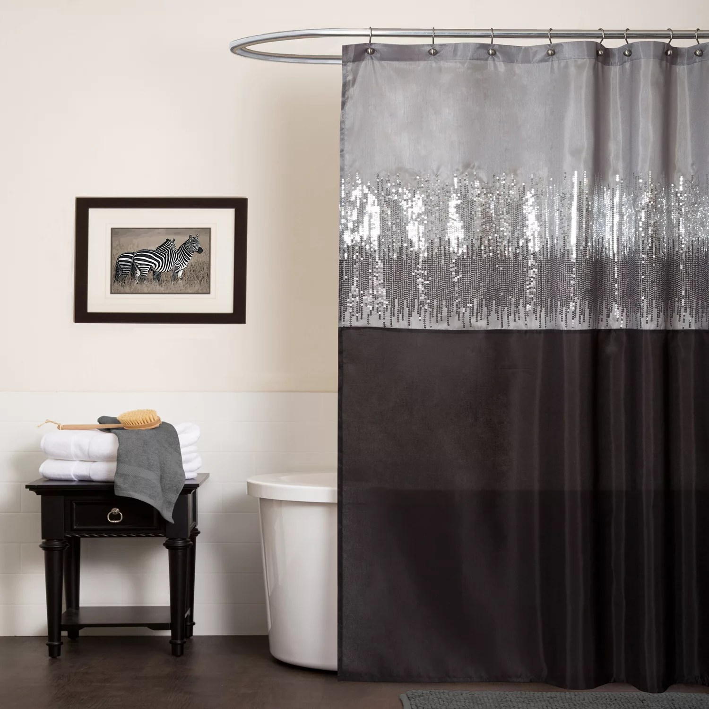 black shower curtains kohl s