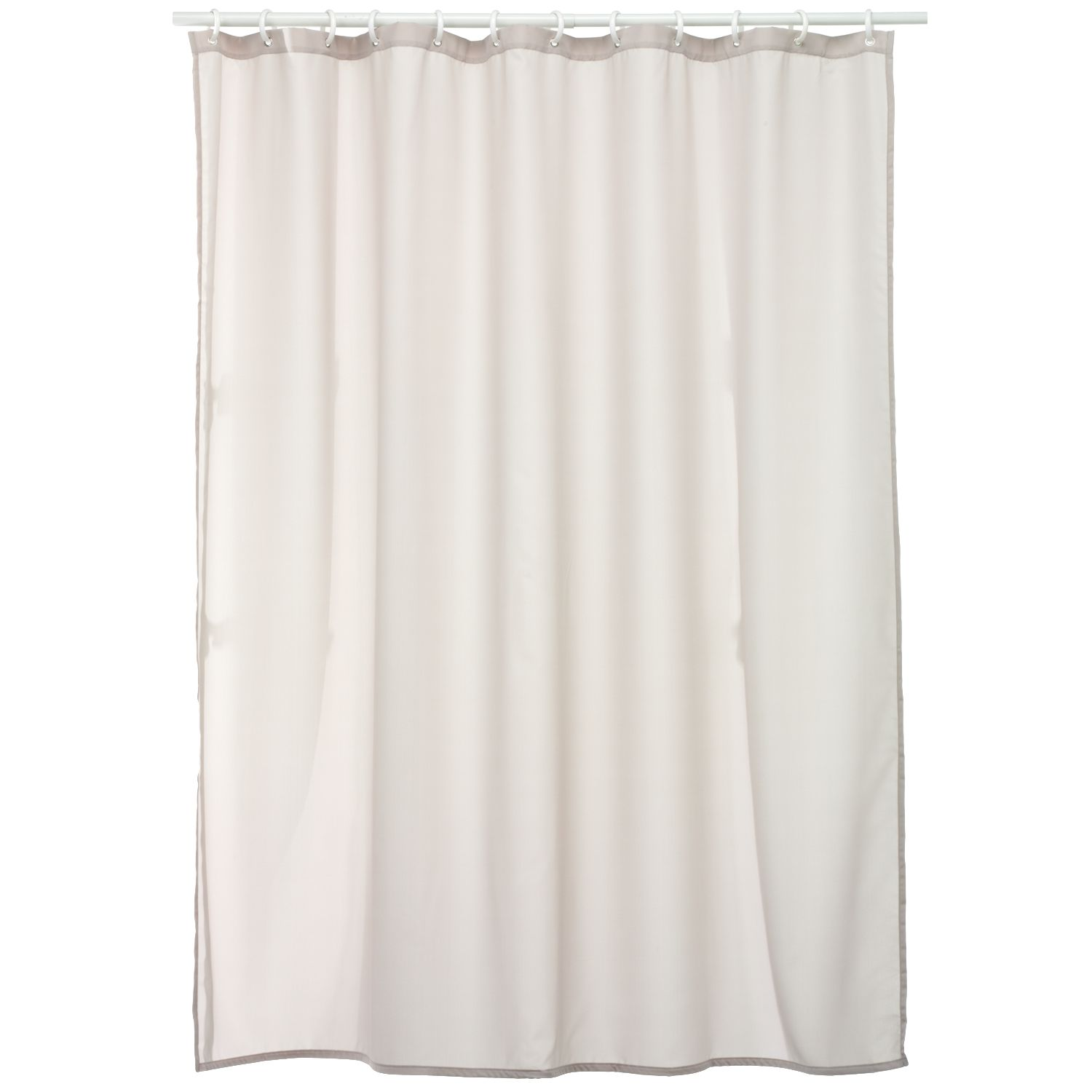 home classics solid fabric shower curtain liner
