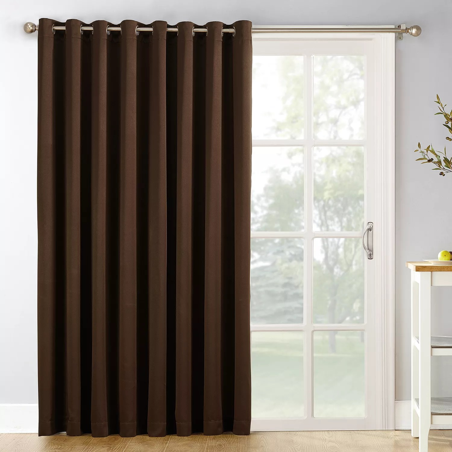brown patio curtains drapes window