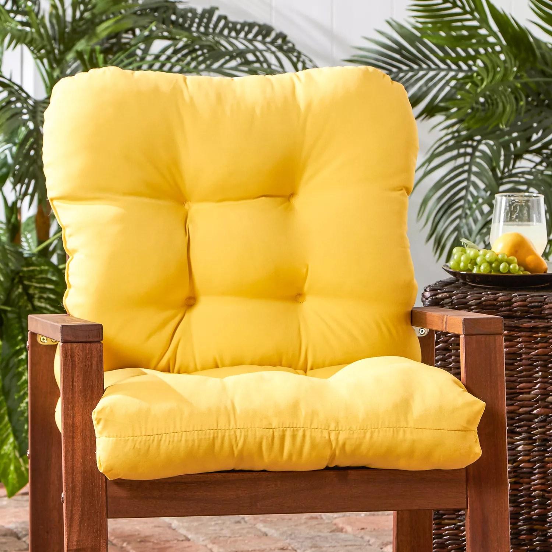 greendale home fashions seat back outdoor chair cushion tall