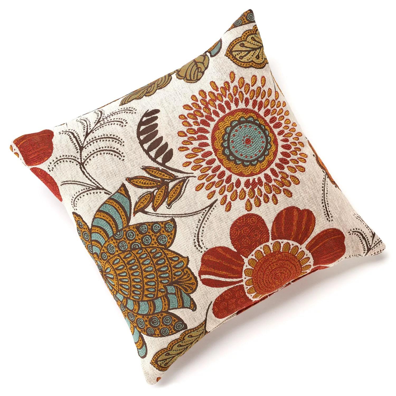 gerbera chenille throw pillow
