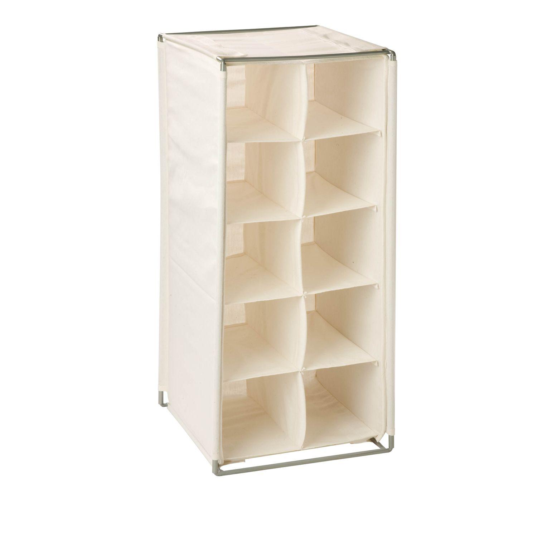 honey can do 10 pair canvas shoe rack