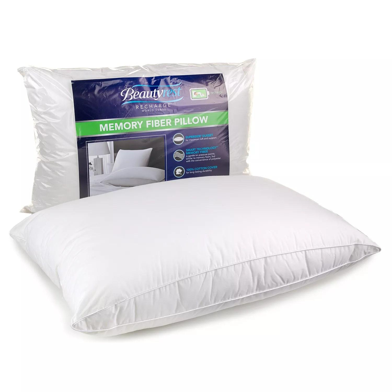 beautyrest memory fiber pillow standard queen